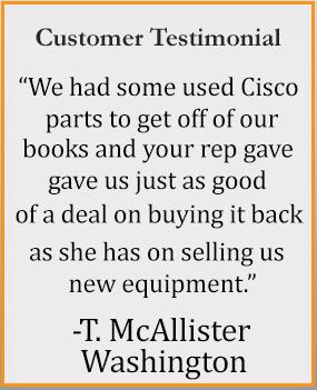 used network equipment customer testimonial