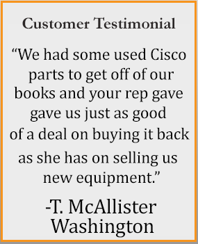 used network equipment customer testimonial