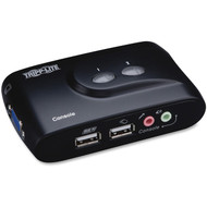 Tripp Lite B004-VUA2-K-R KVM Switch USB 2 Port With Audio and Cables available at Hummingbird