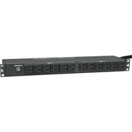 "Tripp Lite PDU2430 PDU Basic 19"" 1U 24 NEMA 5-15R 15ft Cord 24A available at Hummingbird Networks"