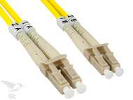 LC to LC Singlemode Duplex 9/125 Fiber Patch Cable, 1M at Hummingbird Networks
