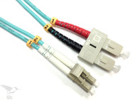 LC to SC MM Duplex 50/125 Fiber Patch Cable, 1M at Hummingbird Networks