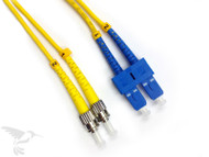 SC to ST Singlemode Duplex 9/125 Fiber Patch Cables, 3M at Hummingbird Networks