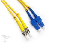 SC to ST Singlemode Duplex 9/125 Fiber Patch Cables, 10M at Hummingbird Networks