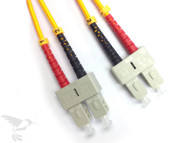 SC to SC Singlemode Duplex 9/125 Fiber Patch Cables, 1M at Hummingbird Networks