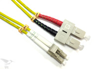 LC to SC Singlemode Duplex 9/125 Fiber Patch Cables, 3M at Hummingbird Networks