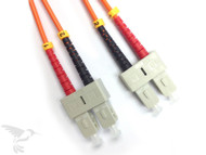 SC to SC Multimode Duplex 62.5/125 Fiber Patch Cables, 2M at Hummingbird Networks