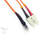 MTRJ to SC Multimode Duplex 62.5/125 Fiber Patch Cables, 2M at Hummingbird Networks