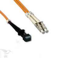 MTRJ to LC Multimode Duplex 62.5/125 Fiber Patch Cables, 2M at Hummingbird Networks