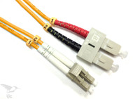 LC to SC Multimode Duplex 50/125 Fiber Patch Cables, 1M at Hummingbird Networks
