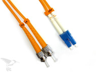 LC to ST Multimode Duplex 50/125 Fiber Patch Cables, 1M at Hummingbird Networks