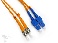 SC to ST Multimode Duplex 50/125 Fiber Patch Cables, 1M at Hummingbird Networks
