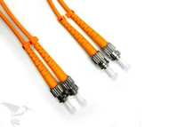 ST to ST Multimode Duplex 50/125 Fiber Patch Cables, 1M at Hummingbird Networks