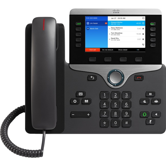 CP-8841-K9 Refurbished Cisco Phone, Color, GigE,5 Button Cisco Refresh
