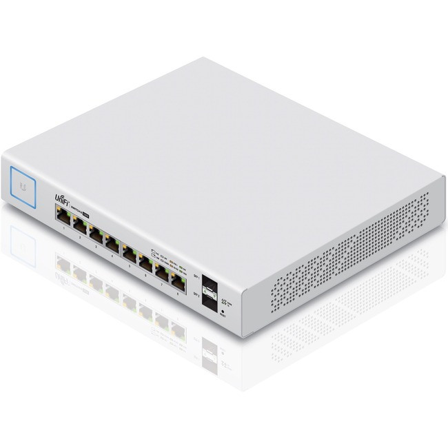 Ubiquiti UniFi Switch 8-150W Managed 8 Port PoE Gig 2 SFP US-8-150W