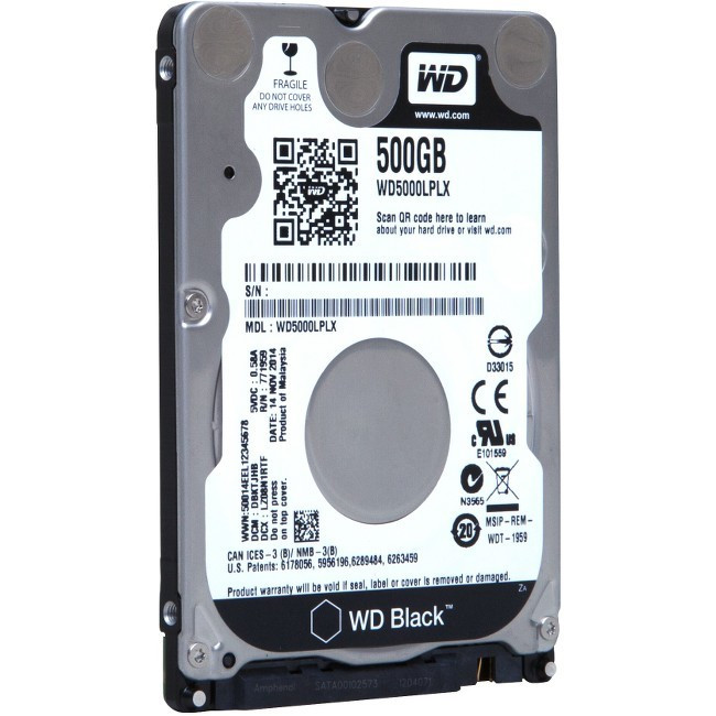 "Wd Black Wd3200lplx 320 Gb 2.5/"" Internal Hard Drive 7200 Rpm Sata 32 Mb"