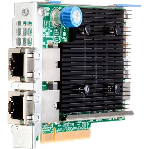 HPE Ethernet 10Gb 2-port 535FLR-T Adapter - PCI Express 3 0 x8 - 2 Port(s)  - 2 - Twisted Pair - 817721-B21