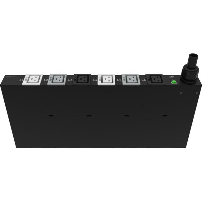 HPE Standard G2 Basic 12-Outlet PDU - Basic - NEMA L6-30P - 12 x IEC 60320  C13 - 230 V AC - 4900 W - 1U - Horizontal - Rack Mount - P9Q40A