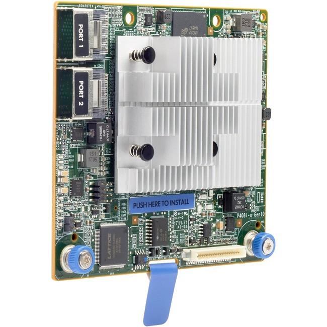 HP Smart Array P408i-a SR Gen10 Controller - 12Gb/s SAS, Serial ATA/600 -  PCI Express 3 0 x8 - Plug-in Module - RAID Supported - 0, 1 - 804331-B21
