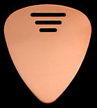 "...METAL... Brighten The Night 10 All New Med/Light Copper ""Flex""   ""Flex"" Pick a 10 pack for just $15. Why be Dull?  Finally a true medium flex-metal pick! Thinner and brighter than plastic.Why be dull? Finally a true medium flex-metal pick.  Thinner & Brighter than plastic.  Steve Albini (Big Black, Shellac) Nirvana Producer, uses our flexible copper!  This is the lighter of the two Copper-Flex options - we call it the double zero six"
