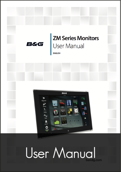 b g zeus 2 glass helm monitor display user manual