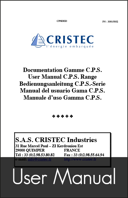 cristec cps marine battery charger user manual