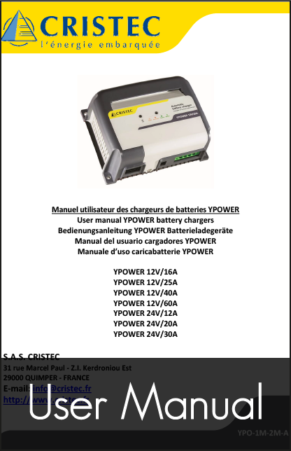 cristec ypower user manual
