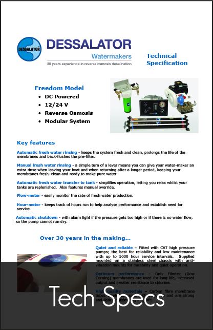 dessalator freedom technical specification 2