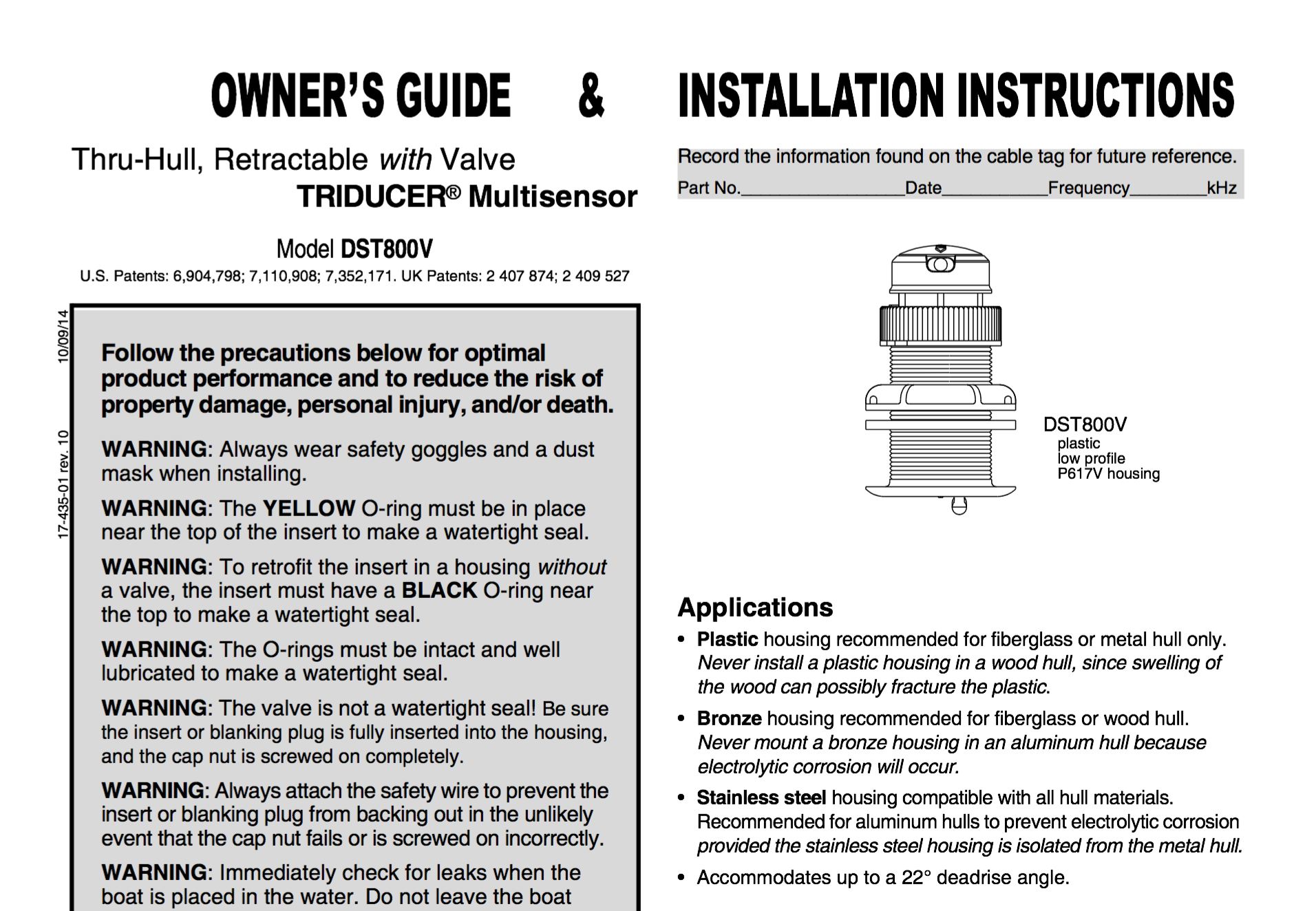 dst800 transducer owners guide