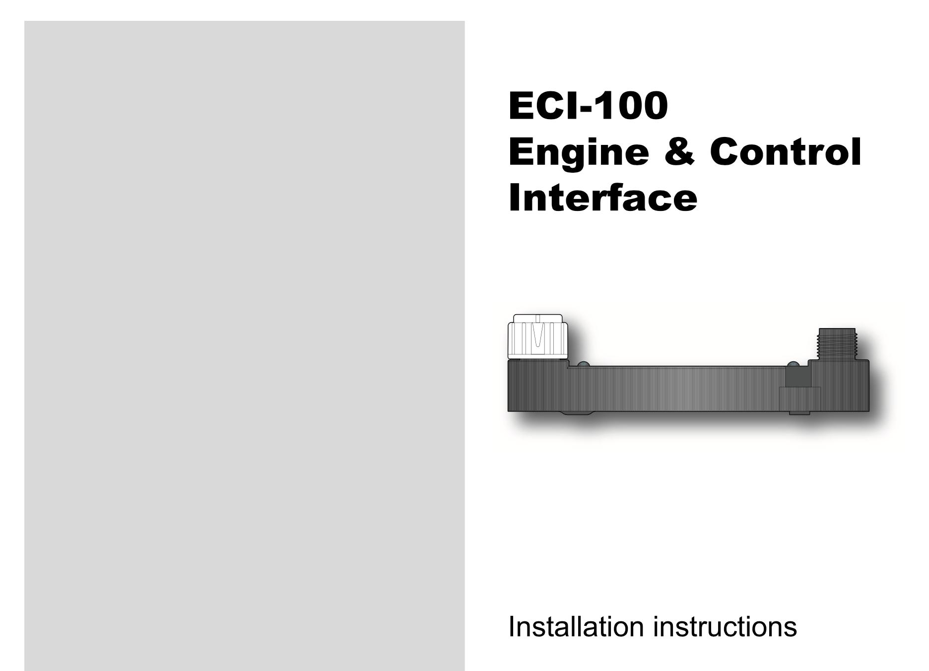 eci-100 engine control interface installation instructions