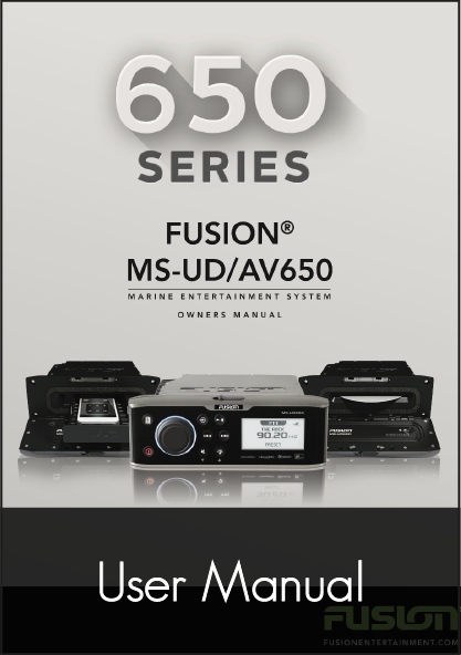 fusion 650 series stereo unit user manual