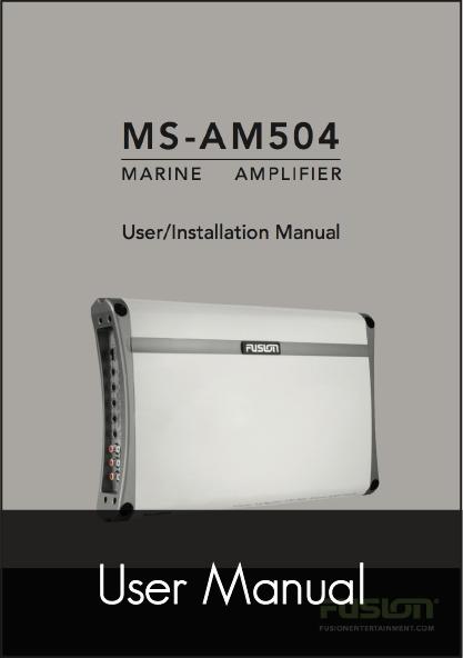 fusion ms 504 marine amplifier user manual
