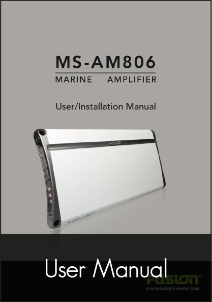 fusion ms am806 marine amplifier user manual
