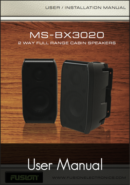 fusion ms bx3020 speakers user manual