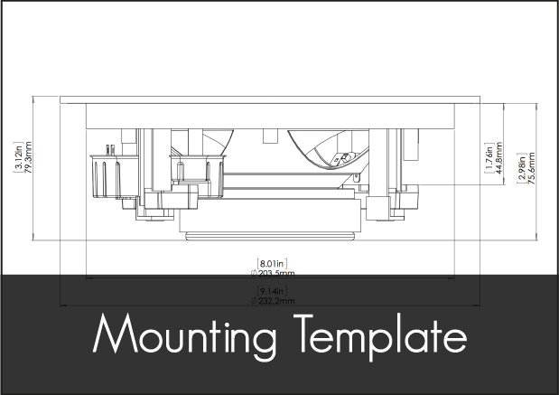 fusion ms cl602 speakers mounting template