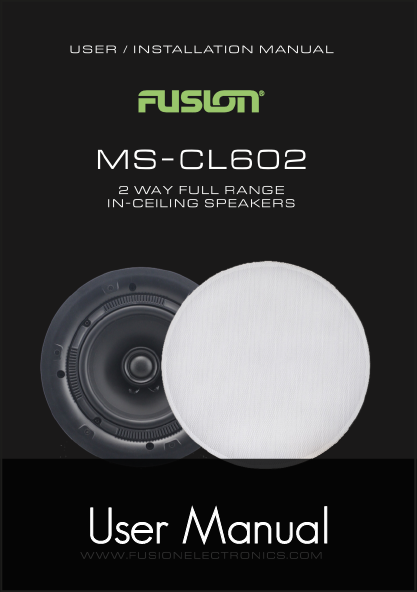 fusion ms cl602 speakers user manual