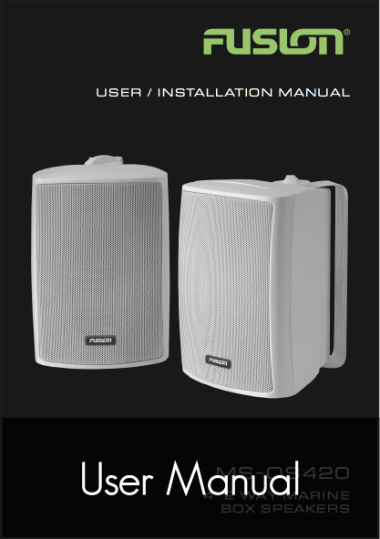 fusion ms os420 speaker system user manual