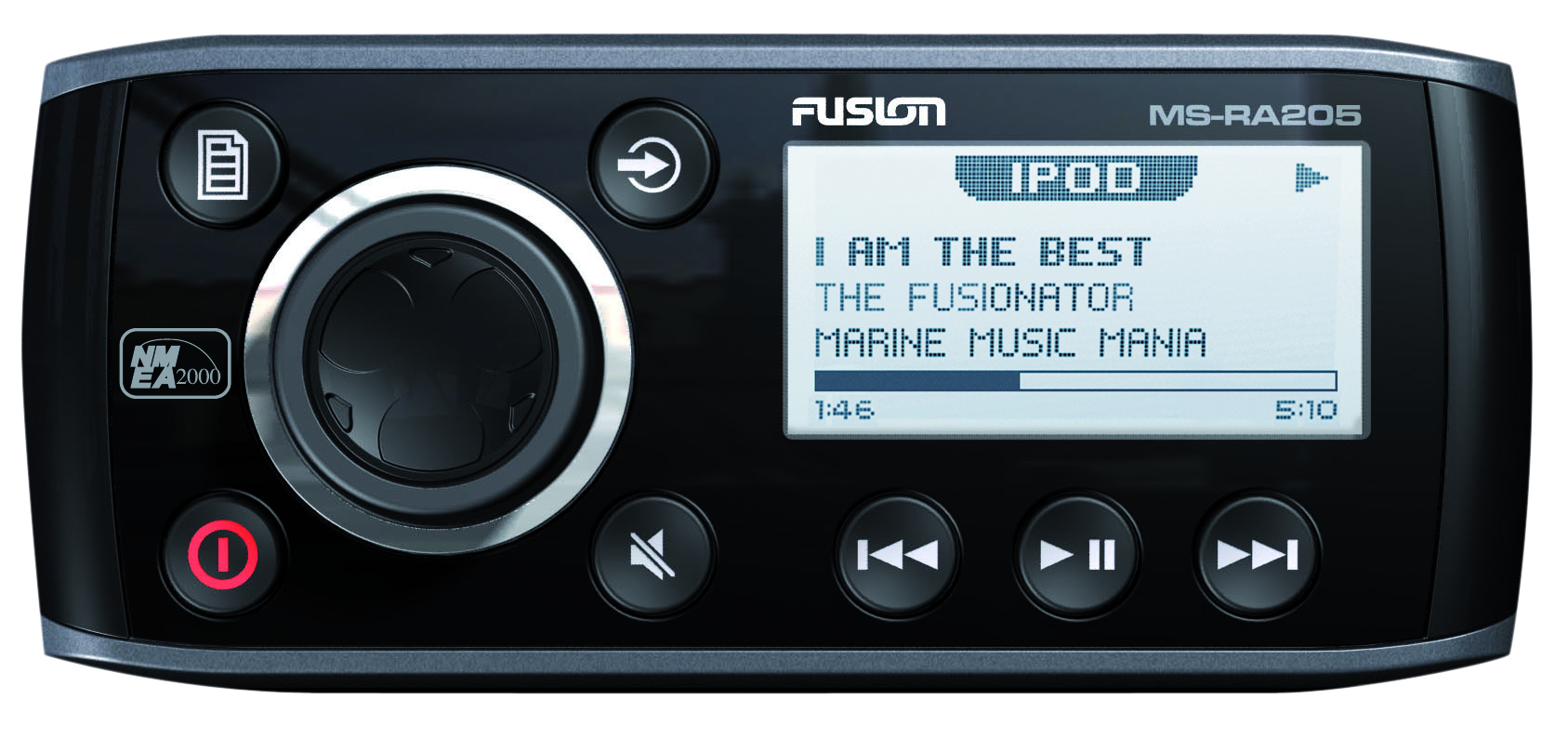 fusion ms ra205 stereo unit front view