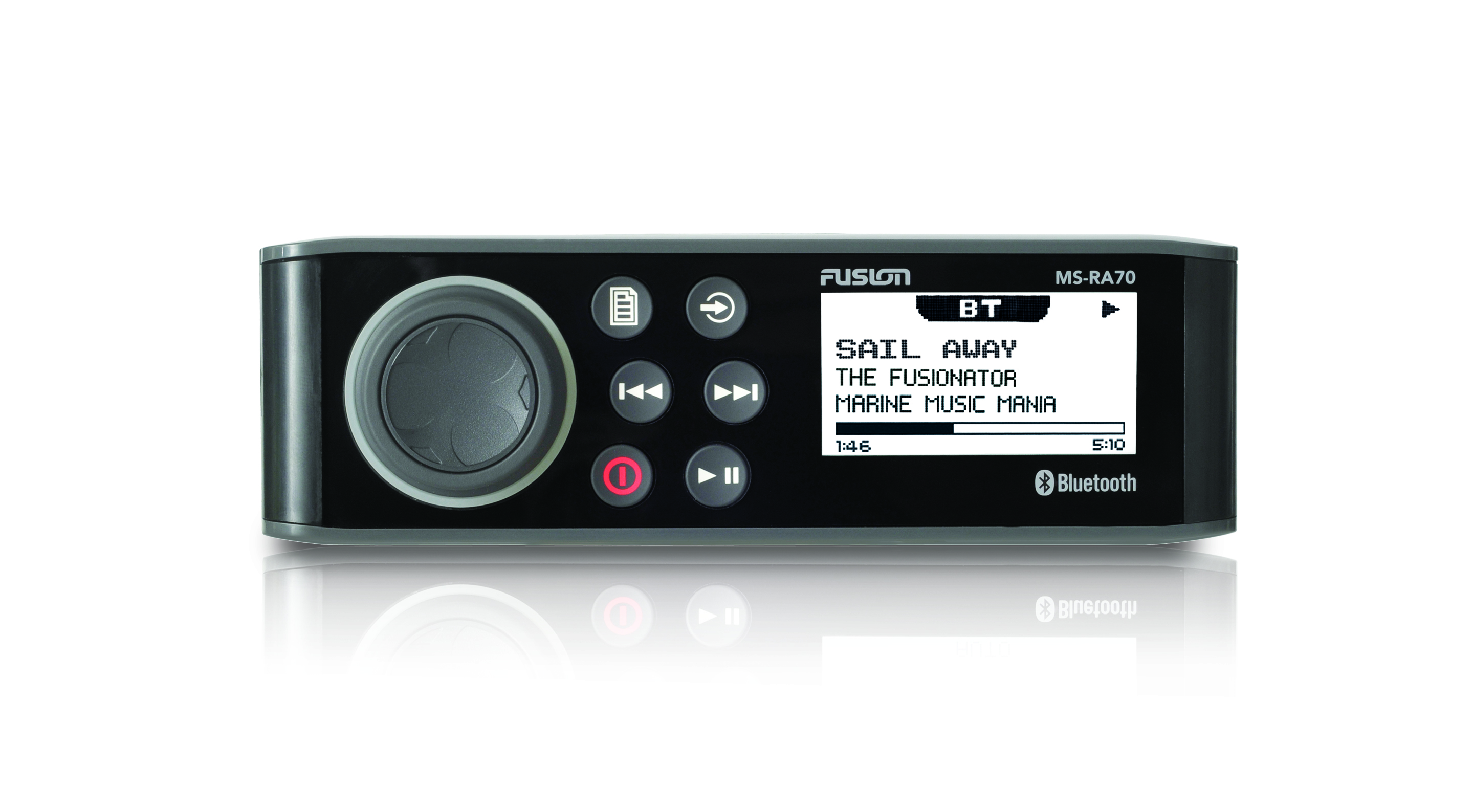 fusion ms ra70 stereo unit front view