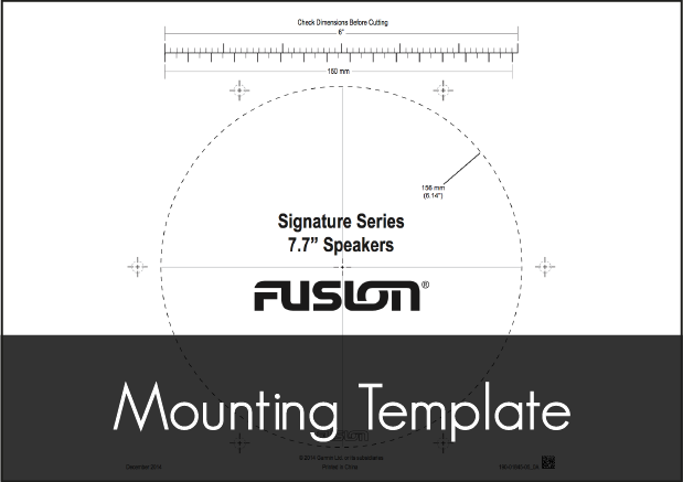 fusion sg 77 speakers mounting template