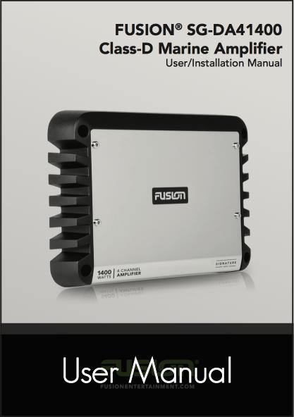 fusion sg da41400 amplifier user manual