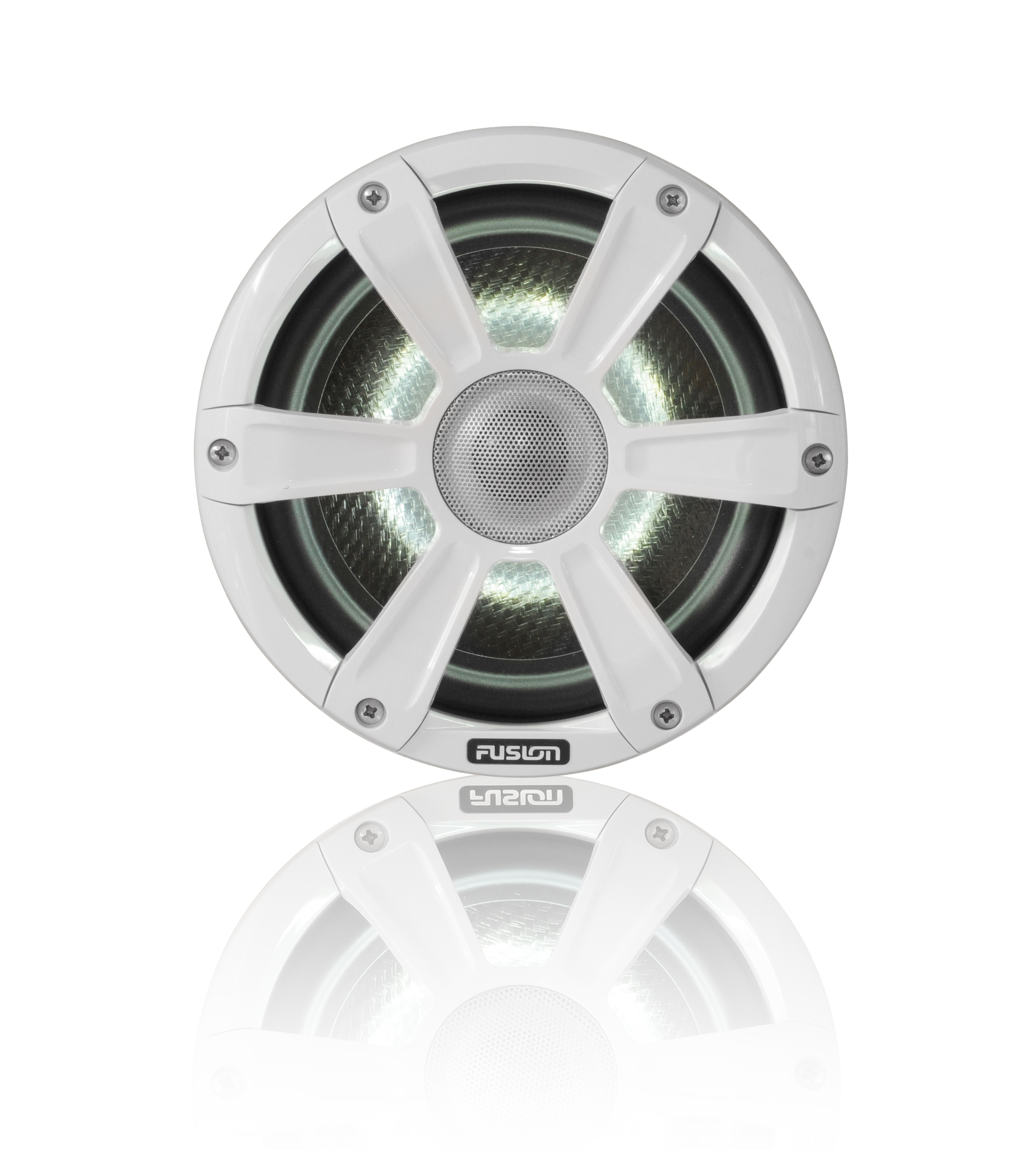 fusion sg f77spw white speaker front shadow