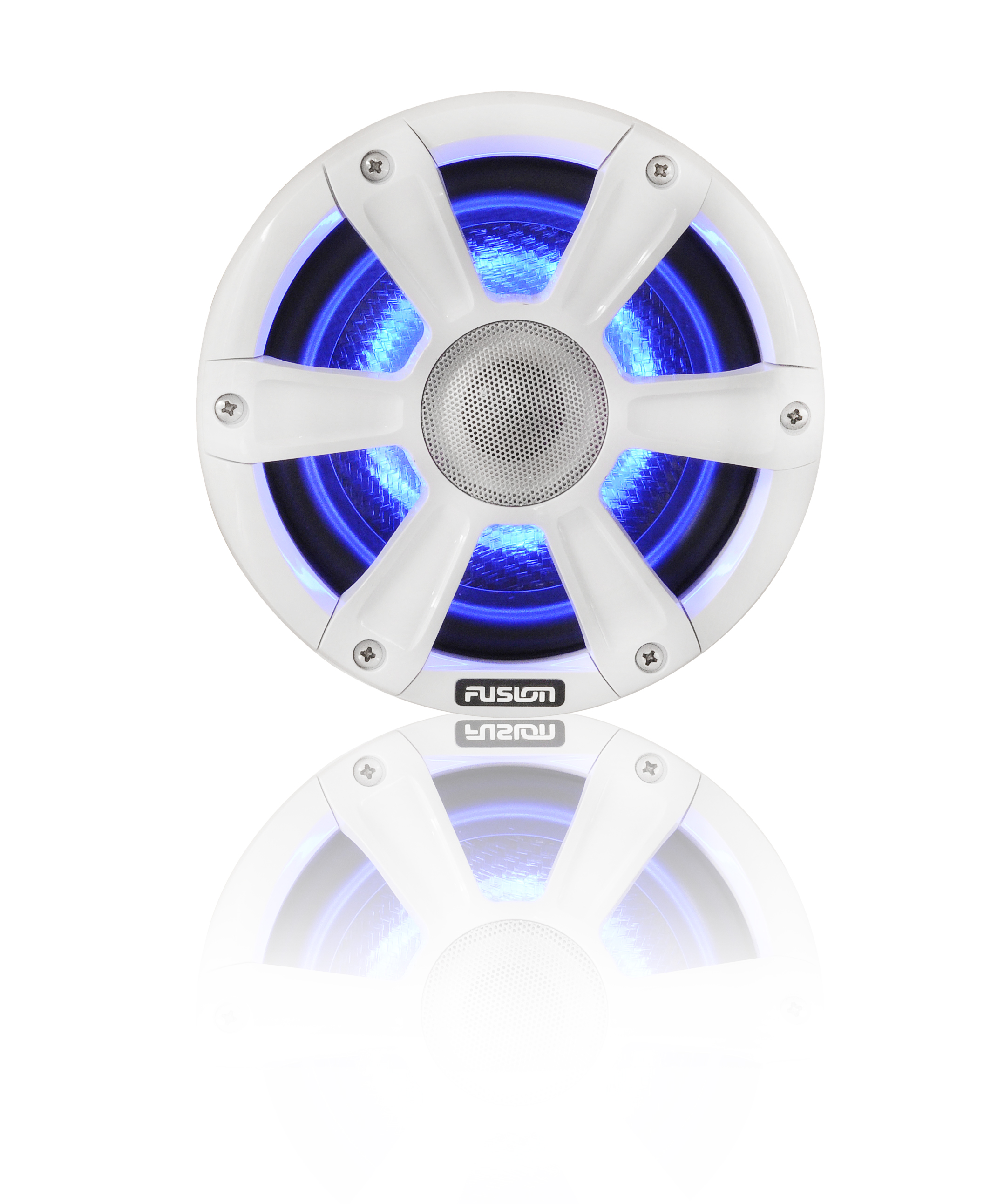 fusion sg fl65spw speaker blue led front