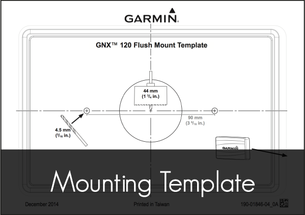 garmin gnx 120 marine instrument mounting template