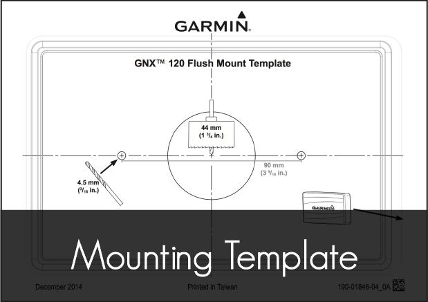 garmin gnx 120 marine instrument mounting template