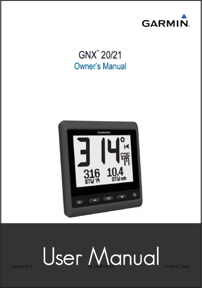 garmin gnx 20 21 owners manual