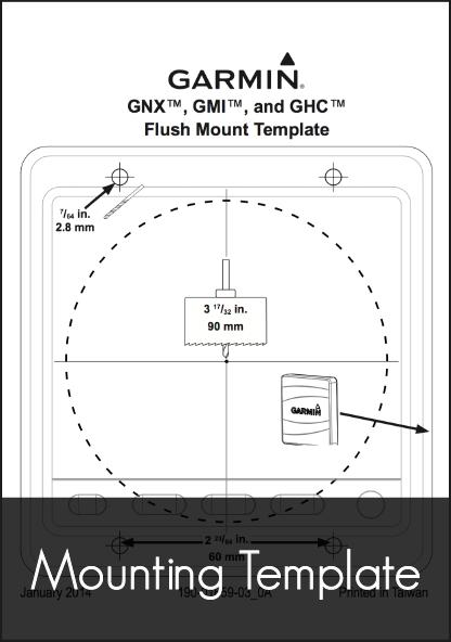 garmin gnx gmi ghc flush mount template