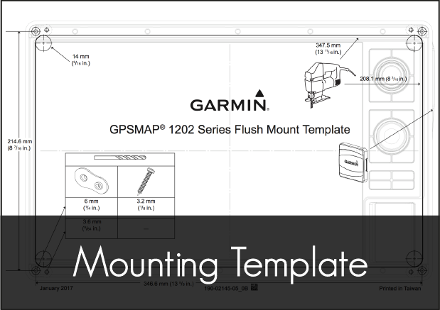 garmin gpsmap 1222 mounting template