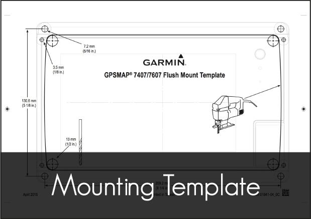 garmin gpsmap 7407 7607 mounting template