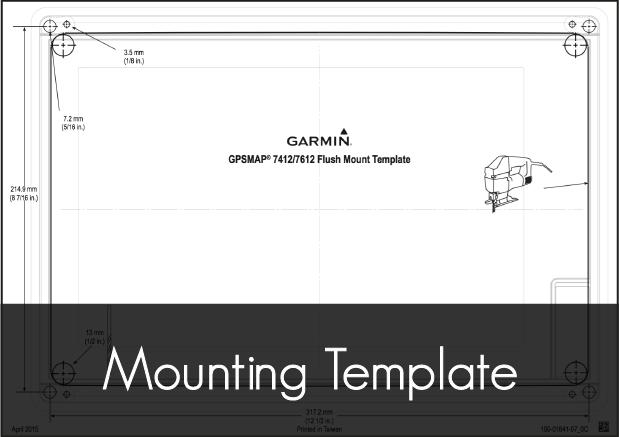 garmin gpsmap 7412 7612 mounting template